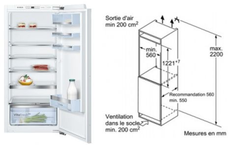 FOUCHARD - Réfrigérateur BOSCH KIR 41 AF 30