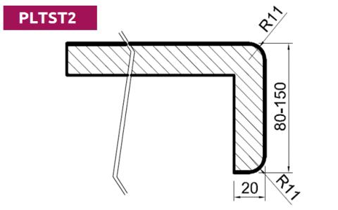 FOUCHARD - Plan de toilette Stratifié HPL avec profil postformé