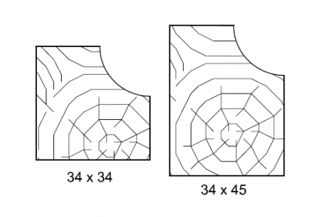 FOUCHARD - Raccord de plan de toilette L.3,00M